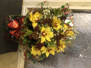 Christmas Orchid Arrangem