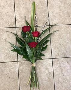 Red Rose Tied Sheaf