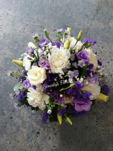 Funeral Posy In Purple