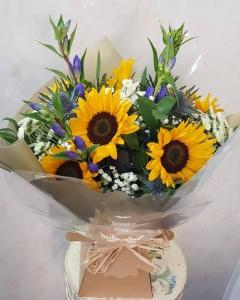 Sunflowers Aqua