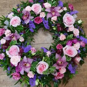 Open Floral Wreath