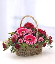 Red & Pink Basket