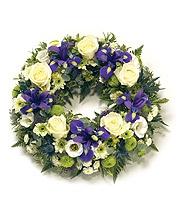 Blue & White Open Wreath