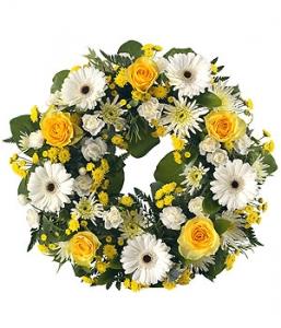 Yellow, White Open Wreath
