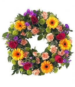 Bright  Open Wreath