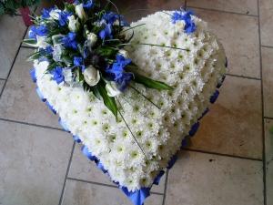 Based White & Blue Heart