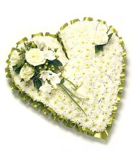 Based Green & White Heart