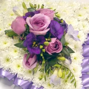 Lilac & Lavender Pillow