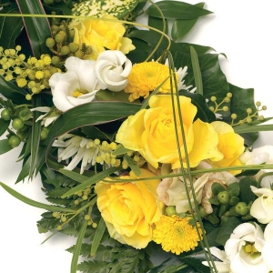 Open Yellow & White Cross