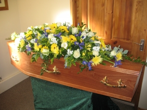 Yellow And Blue Coffin To