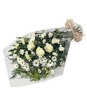 White Gift Wrap Bouquet