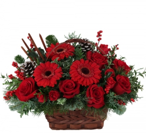 Crimson Christmas Basket