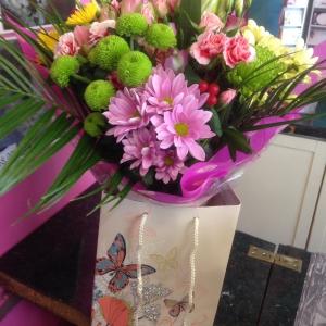 Gift Bag Of Flowers