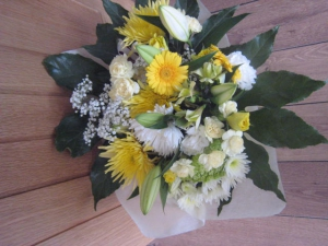 Bright Yellow Hand Tied