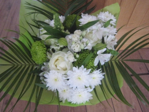 White/Green Hand Tied