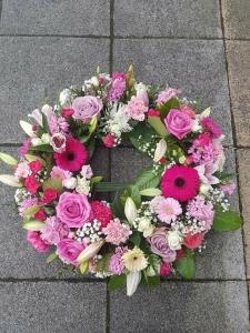 Pink White Wreath