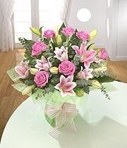 Lily And Roses Aqua