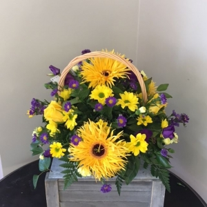Gold And Yellow Basket