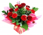 6 X Red  Roses And 6 X Carnations Boxed
