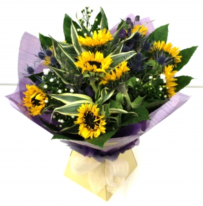 Sunflower Boxed Hand-Tied