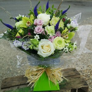 Box Of Greens And Soft Pinks