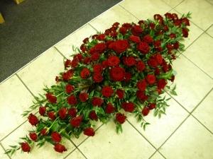 Full Coffin Rose Tribute