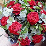 12 Red Roses In Handtied