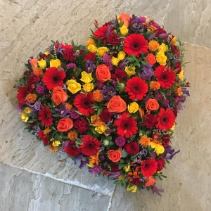 Vibrant Mix Funeral Heart