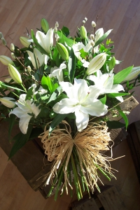 Tied Sheaf With Lilies