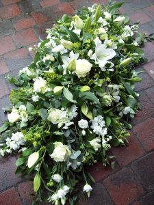 White Flower Casket Spray