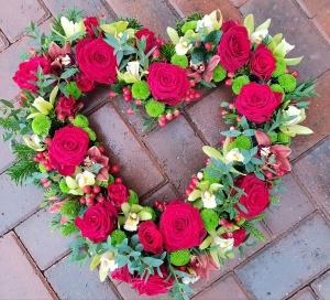 Red And Green Open Heart