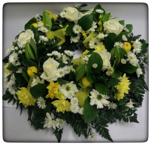 Yellow And Cream Wreath