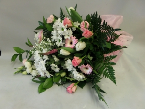 Pink And White Tied Sheaf