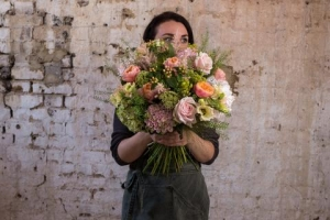 Apricot And Coral Posy