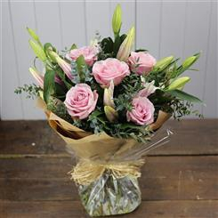 Pink Liles And Roses