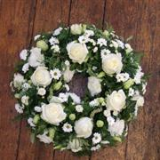 Wreath: White Rose