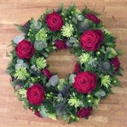 Wreath: Red Rose