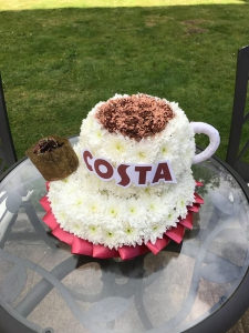 Coffee Cup Funeral Flower