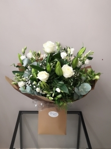 All White Roses And Lily