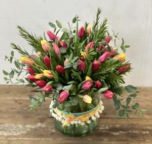 Vibrant Tulips Vase