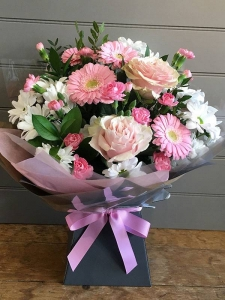 Pink And White Handtied
