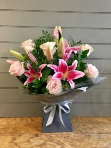 Rose And Lily Handtied