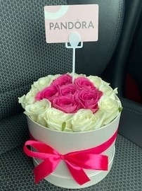 Rose & Gift Card Hatbox