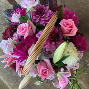 A Basket Of Fresh Summer Flowers