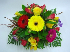 A Touch Of Colour Posy Bowl Arrangement