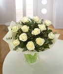All White Rose Handtie