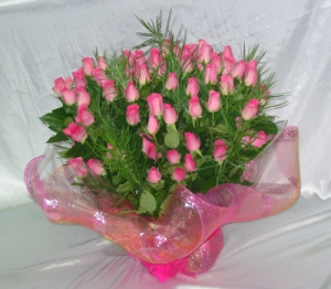 Arrangement Of 50 Pink Roses