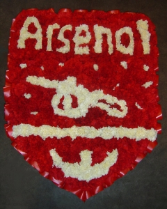 Arsenal Badge Made Of Flowers