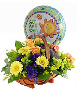 Balloon And Basket Gift
