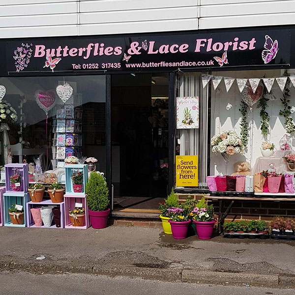 Butterflies and Lace Florist